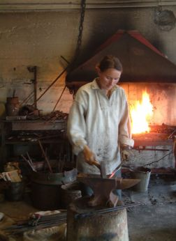 Blacksmithing at the museum