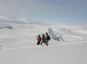 Hiking in the mountains - photo Jónas Jónsson