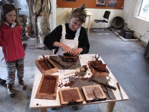 A smelter workshop at the museum