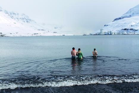 Seabathing is common in Seyðisfjörður