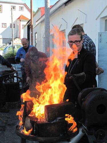 Blacksmithing at the museum