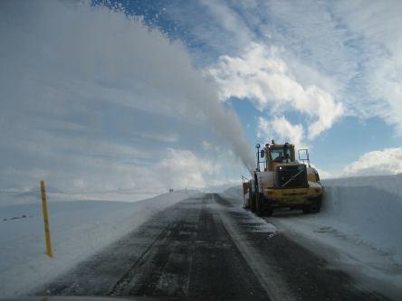 Snowplow at Fjarðarheiði - author unknown